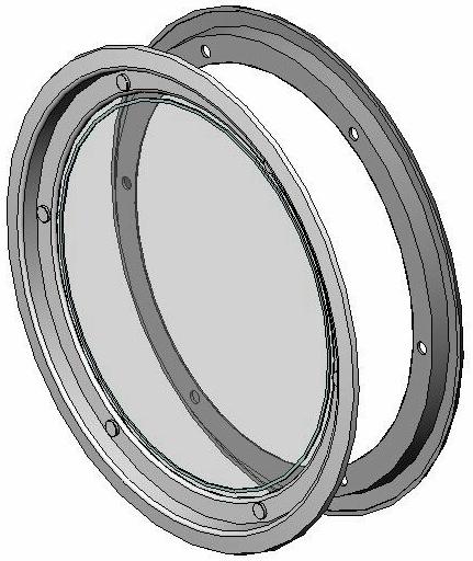 Hublot rond visser blanc 1 vitre porte 22 24 mm - Porte a hublot ...
