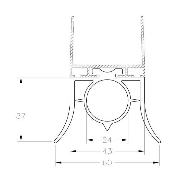 joint d 39 tanch it bas avec 2 l vres le m l r f 1035sr. Black Bedroom Furniture Sets. Home Design Ideas